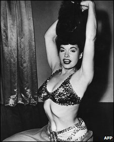 Bettie Page in the 1954 film Varietease