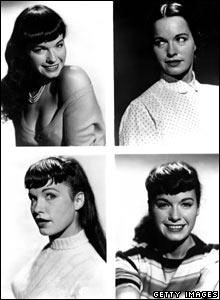 Various poses by Bettie Page, 1950s