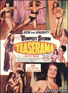 Poster for Teaserama, featuring Bettie Page