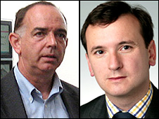 Nick Bourne (left) and Alun Cairns.