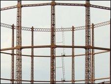 Gas storage tank in London