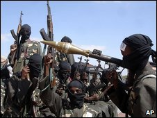 Armed militants in Somalia