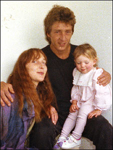 Conrad Ellam, pictured with Samantha Bissett and her daughter Jazmine