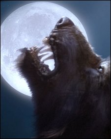 A publicity shot of a werewolf featured in the BBC's Dr Who