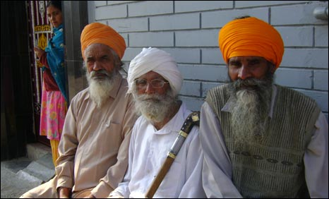Old men in Giljian village in Punjab, India