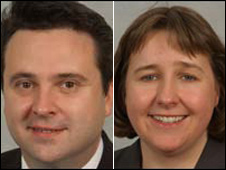 Huw Lewis AM and Lynne Neagle AM