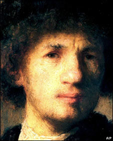 Self-portrait by Dutch master Rembrandt van Rijn