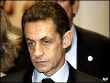 Nicolas Sarkozy in Brussels, 12 December 2008