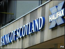 Bank of Scotland and Halifax signs