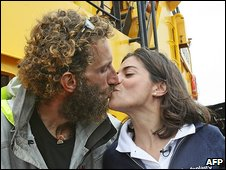 Alex Bellini and his wife Francesca