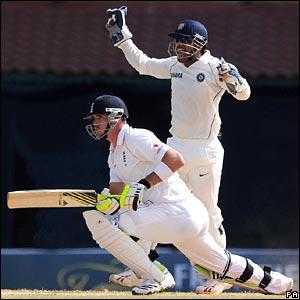 Pietersen out lbw to Yuvraj