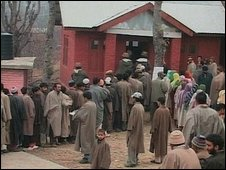 Polling station in Pulwama