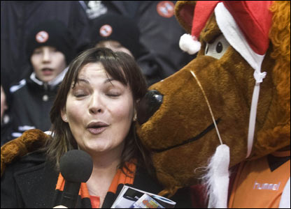 Lorraine Kelly is enjoying her new role at Tannadice after landing a job as BBC's roving reporter