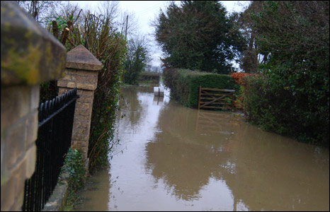 Flooded lane [Pic: Vicky Young]