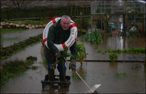 A flooded garden [Pic: Jen Thorpe]