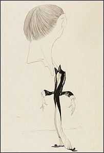 Caricatura de Beardsley (Foto: National Gallery)