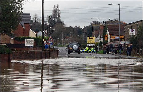 A flooded road in Ilminster [pic: Ian Goddard]