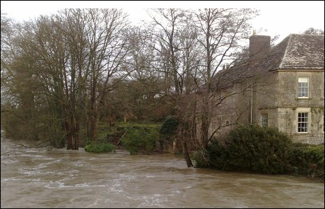 Burst banks of the River Frome [Pic: Daniel Dollin]