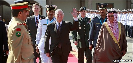 Robert Gates arrives in Bahrain for security conference