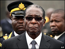 Robert Mugabe at the National Heroes Acre in Harare (11 December 2008)