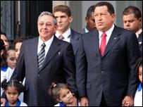 الرئيسان الفنزويلي والكوبي
