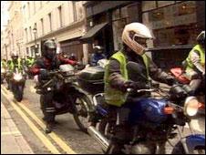 bikers protest