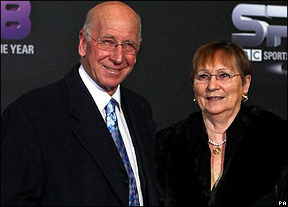 Sir Bobby Charlton and wife Norma