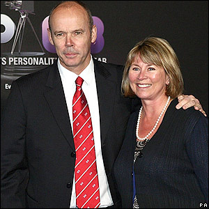 Woodward and wife Jane