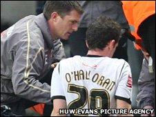 Stephen O'Halloran receives treatment