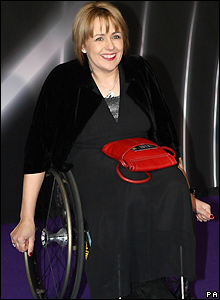 Dame Tanni Grey-Thompson makes her entrance