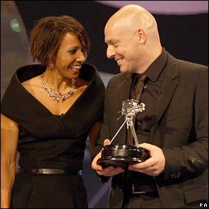 Team GB cycling coach David Brailsford with Dame Kelly Holmes