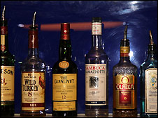 Bottles of spirits - file photo