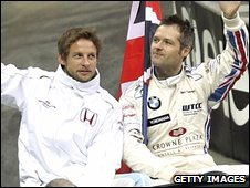 Andy Priaulx (r) and Jenson Button