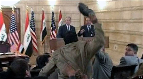 Shoe attack against President Bush