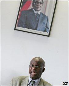 Zimbabwe Justice Minister Patrick Chinamasa in Harare in April 2008