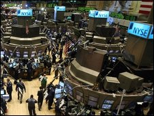 scene from NY stock exchange