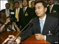 El nuevo primer ministro tailand�s en conferencia de prensa