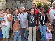 Liaena Hernandez with her consitutuents in Manuel Tames, Cuba