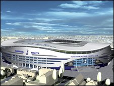 Spurs proposed new stadium