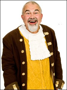 Albert Clack as Professor Crackpot in Beauty and the Beast