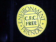 CFC-free badge (Image: BBC)