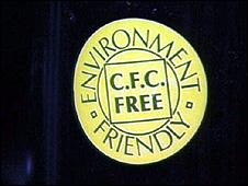 CFC-free badge (Image: BBC)