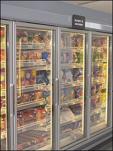 Supermarket freezer (Image: BBC)