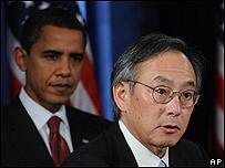 Barack Obama y Stephen Chu