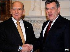 Ehud Olmert and Gordon Brown