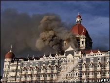 The Taj Mahal hotel in Mumbai, 29 Nov