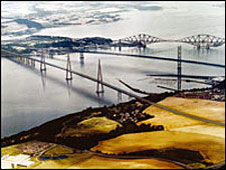 Artist impression of new Forth Bridge crossing