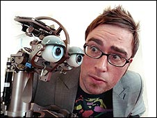 Domo robot and Danny Wallace
