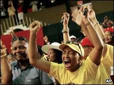 Cope supporters in Bloemfontein, 16 December 2008