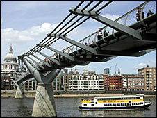The Millennium Bridge in London